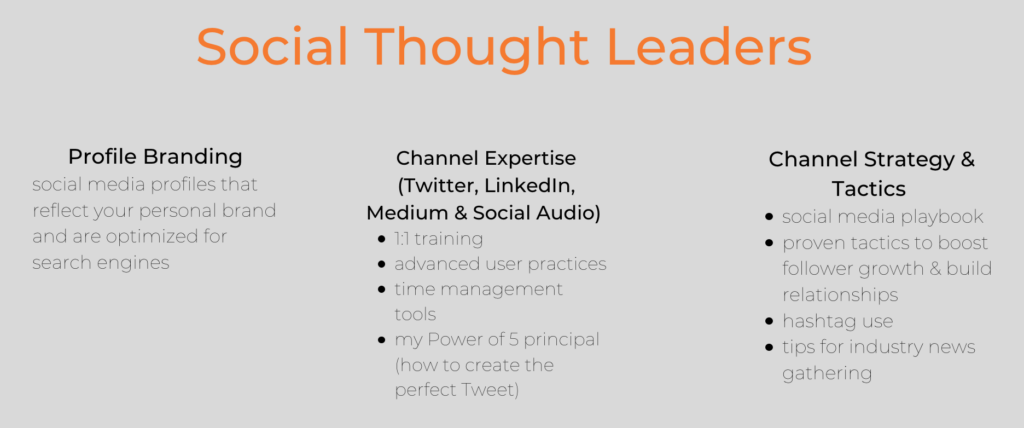 Training for Social Thought Leaders